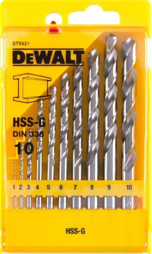 DeWALT DT5921 sada vrtáků do kovu HSS-G DIN 338, 10 ks