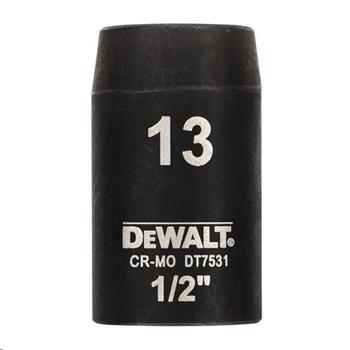 """DeWALT DT7531 nástrčná hlavice EXTREME IMPACT 1/2"""" krátká, 13 mm"""