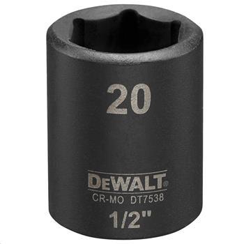 """DeWALT DT7538 nástrčná hlavice EXTREME IMPACT 1/2"""" krátká, 20 mm"""