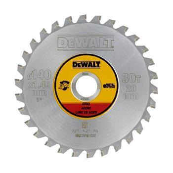 DeWALT DT1923 kotouč pro aku kotoučové pily na řezání oceli, 140 x 20 mm, 30 zubů
