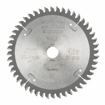 DeWALT DT4084 pilový kotouč EXTREME WOOD pro řezání dřeva, dýhy a laminátu, 160 x 20 mm, 48 zubů
