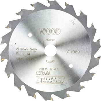DeWALT DT1089 pilový kotouč WOOD pro ponorné pily na dřevo, 165 x 20 mm, 18 zubů
