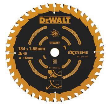 DeWALT DT10303 pilový kotouč EXTREME pro kotoučové pily, 184 x 16 mm, 40 zubů