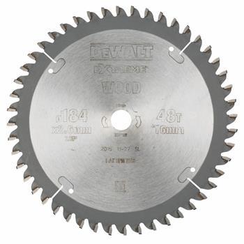 DeWALT DT4092 pilový kotouč pro kotoučové pily na dřevo, 184 x 16 mm, 48 zubů