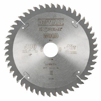 DeWALT DT4094 pilový kotouč pro kotoučové pily na dřevo, 190 x 30 mm, 48 zubů
