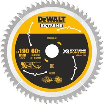 DeWALT DT99564 pilový kotouč XR FLEXVOLT pro ruční kotoučové aku pily, 190 x 30 mm, 60 zubů