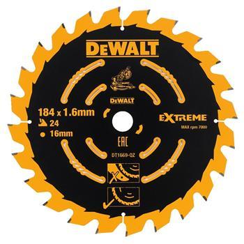DeWALT DT1669 pilový kotouč EXTREME pro AKU kotoučové pily, 184 x 16 mm, 24 zubů