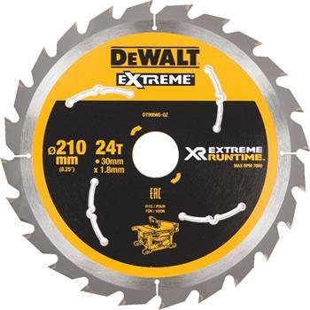DeWALT DT99565 pilový kotouč XR FLEXVOLT pro stolní aku pily, 210 x 30 mm, 24 zubů