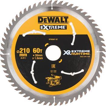 DeWALT DT99567 pilový kotouč XR FLEXVOLT pro stolní aku pily, 210 x 30 mm, 60 zubů
