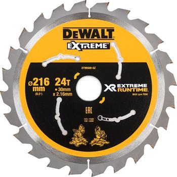DeWALT DT99568 pilový kotouč XR FLEXVOLT pro pokosové aku pily, 216 x 30 mm, 24 zubů