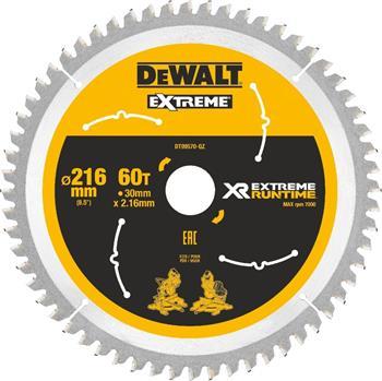 DeWALT DT99570 pilový kotouč XR FLEXVOLT pro pokosové aku pily, 216 x 30 mm, 60 zubů