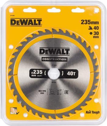 DeWALT DT1955 pilový kotouč CONSTRUCTION pro pokosové pily na dřevo s hřebíky, 235 x 30 mm, 40 zubů