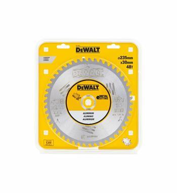 DeWALT DT1913 pilový kotouč pro ruční kotoučové pily na hliník 235 x 30 mm, 48 zubů