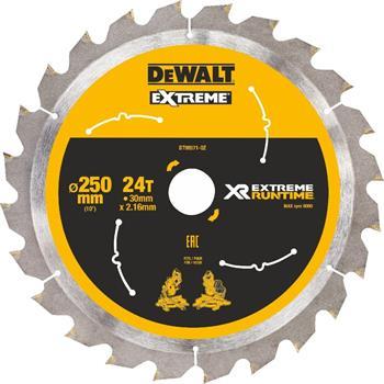 DeWALT DT99571 pilový kotouč XR FLEXVOLT pro aku pily, 250 x 30 mm, 24 zubů