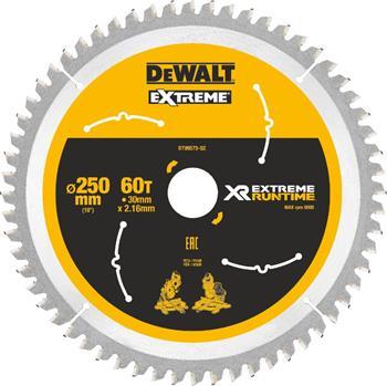 DeWALT DT99573 pilový kotouč XR FLEXVOLT pro aku pily, 250 x 30 mm, 60 zubů
