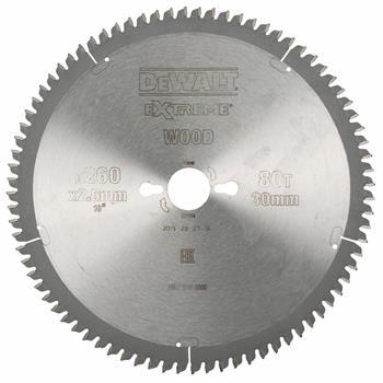 DeWALT DT4280 pilový kotouč EXTREME WOOD, 260 x 30 mm, 80 zubů