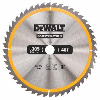 DeWALT DT1959 pilový kotouč CONSTRUCTION pro pokosové pily na dřevo s hřebíky, 305 x 30 mm, 48 zubů