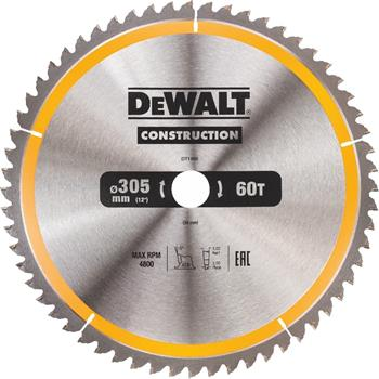 DeWALT DT1960 pilový kotouč CONSTRUCTION, 305 x 30 mm, 60 zubů