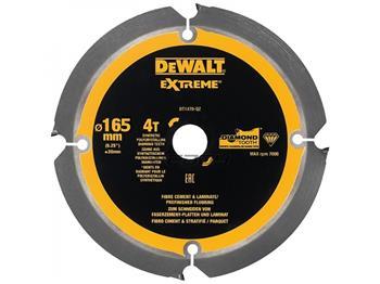 DeWALT DT1471 pilový kotouč pro cementovláknité a laminátové desky, 165 x 20 mm, 4 zuby