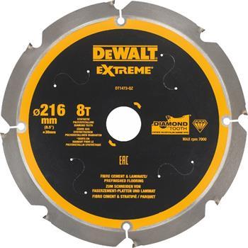 DeWALT DT1473 pilový kotouč pro cementovláknité a laminátové desky, 216 x 30 mm, 8 zubů