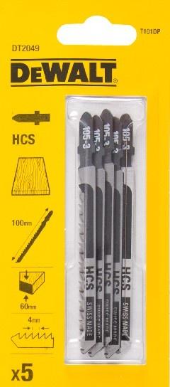 DeWALT DT2049 pilové plátky HCS na dřevo, dřevotřísku do 60 mm, 5 ks