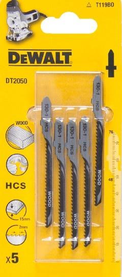 DeWALT DT2050 pilové plátky HCS na dřevo, dřevotřísku do 15 mm, 5 ks