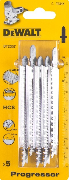 DeWALT DT2057 pilové plátky HCS PROGRESSOR pro řezání dřeva, 5 ks