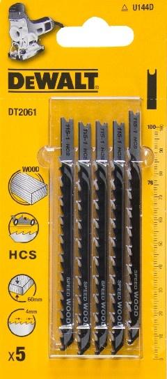 DeWALT DT2061 pilové plátky HCS na dřevo, rychlé řezy, 5 ks