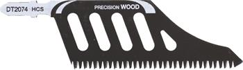 DeWALT DT2074 pilové plátky HCS na dřevo, ochranné lišty, 5 ks
