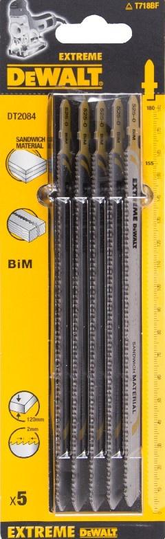 DeWALT DT2084 pilový plátek pro přímočarou pilu, přímé a obloukové řezy, 5 ks