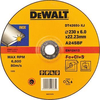 DeWALT DT42650 Brusný kotouč standardní vypouklý na nerezovou ocel, 230 x 6 mm