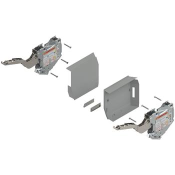Blum 20K2B00.02 Aventos HK-S slabý včetně krytek - šedá - bez čelního kování