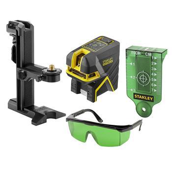 Stanley FatMax křížový + 2bodový laser - zelený