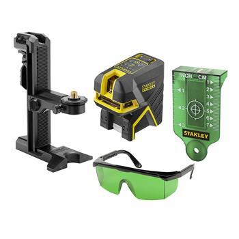 Stanley FatMax křížový + 5bodový laser - zelený