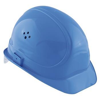 Ochranná stavební helma VOSS Inap-Master 6 polyetylén modrý
