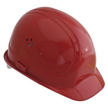 Ochranná stavební helma VOSS Inap-Master 6 polyetylén červený