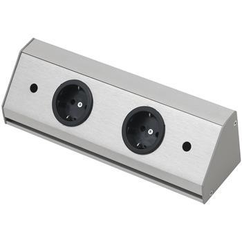 Zásuvková lišta Corner Compact 230 V, max.3500 Watt, 260 mm, nerez efekt