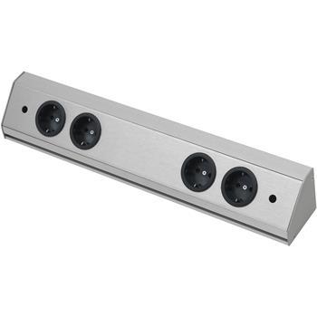 Zásuvková lišta Corner Compact 230 V, max.3500 Watt, 560 mm, nerez efekt