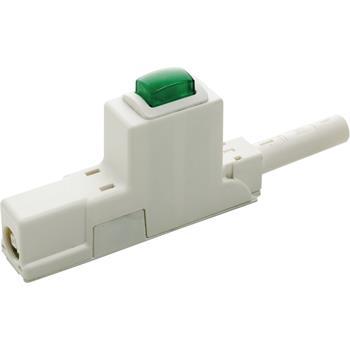 Hlavní vypínač Freedom, délka 100 mm, plast bílý, vypínač zelený