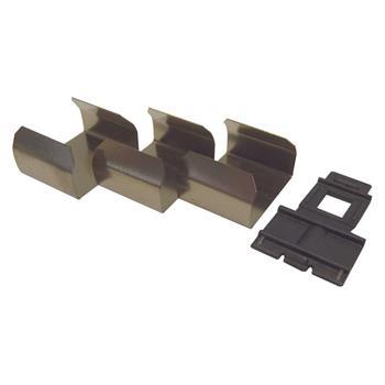 Koncovky k vestavné sadě hliníkového profilu MEC-2, barva hliníku