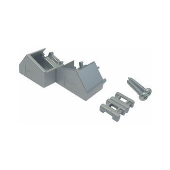 Koncovky k hliníkovému profilu MEC-3, šikmé, barva hliník