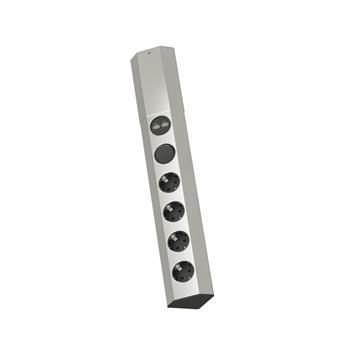 Zásuvková lišta Casia, 4x230 V česká norma, vypínač, USB nabíječka