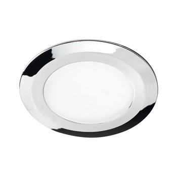 LED vestavné svítidlo Date, 3 W, teplá bílá, o76 mm, chrom, sada 3ks