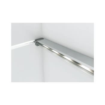 LED Osvětlení skleněné hrany Aluline, 1,5 Watt, teplá bílá, d 560 mm, eloxované