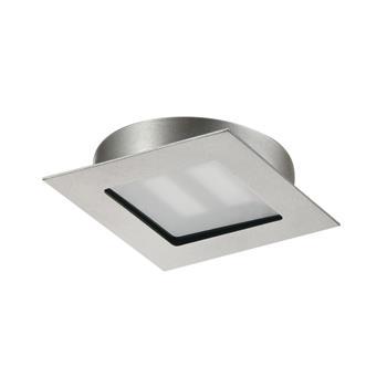 LED svítidlo CUBIC68 Q, 4,2W nerez ef. teple bílá sada 3ks vč.síť. zdroje 20W