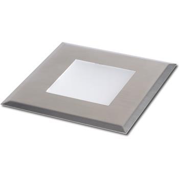 LED-podlahové vestavné svítidlo Lela, 0,4 Watt, 88x88 mm, kartáčované