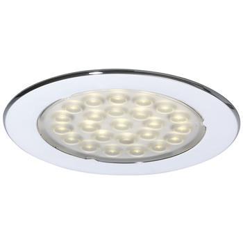 LED svítidlo Metris, 1,6 W, teplá bílá, chrom, sada 3 ks vč. síťového zdroje 6 W