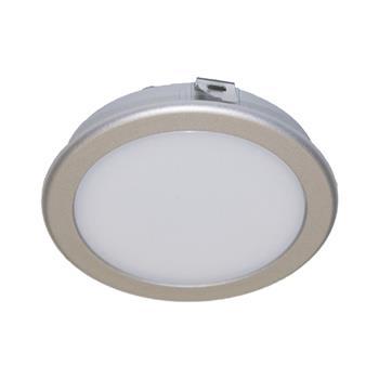 LED svítidlo Moonlight 3W, 3000K, TB, nerez efekt, sada 3ks vč. síť. zdr. 15W