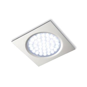 LED svítidlo Nova IN Quadrat, 2,7 W, n. bílá, nerez, sada 3ks vč.síť. zdr. 15 W