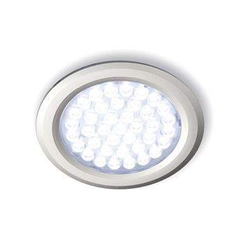 LED svítidlo Nova IN kulaté, 2,7W, n. bílá, nerez, sada 3ks vč.síť. zdroje 15 W